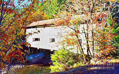 Photograph - Little River At Cavitt Covered Bridge by Ansel Price