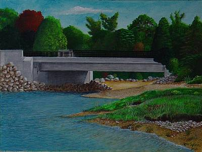 Painting - Little River Bridge by Ron Sylvia