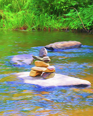 Photograph - Little River Cairn by Ginger Wakem