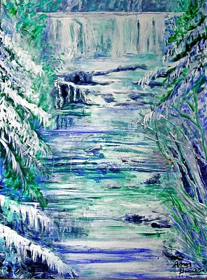 Little River Canyon Ice Storm Art Print by Anne Hamilton