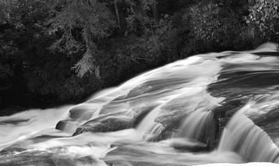Waterfalls Photograph - Little River Cascade Bw by Dennis Nelson