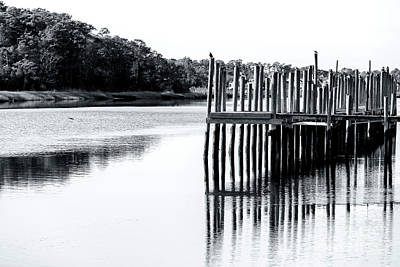Photograph - Little River Dock Reflections by John Rizzuto