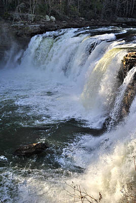 Photograph - Little River Falls 3 by George Taylor