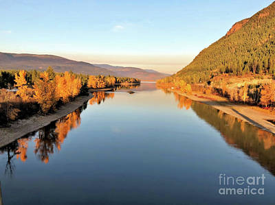Photograph - Little River In The Fall 4 by Victor K