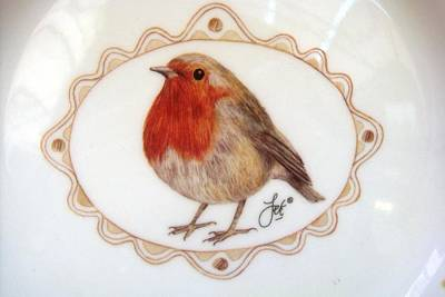 Mixed Media - Little Robin by Joy of Life Art Gallery