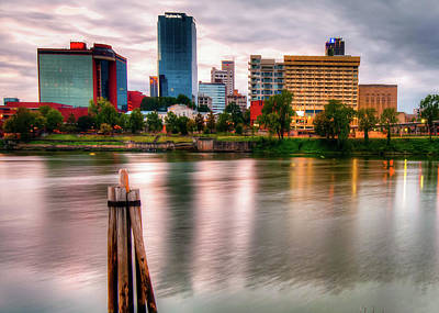 Photograph - Little Rock Arkansas Skyline On The River by Gregory Ballos