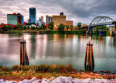 Photograph - Little Rock Arkansas Usa Skyline And River by Gregory Ballos