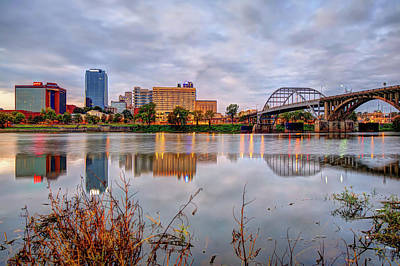 Photograph - Little Rock Skyline Reflections - Arkansas by Gregory Ballos