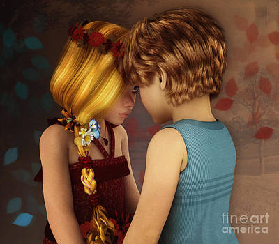 Digital Art - Little Romance by Jutta Maria Pusl