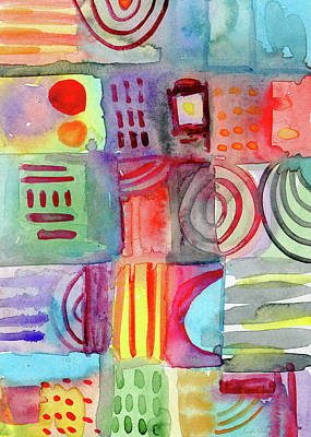 Contemporary Mixed Media - Little Rooms Patchwork 20- Art By Linda Woods by Linda Woods