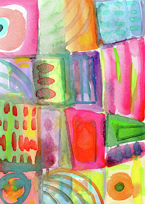 Little Rooms Patchwork 21- Art By Linda Woods Art Print by Linda Woods
