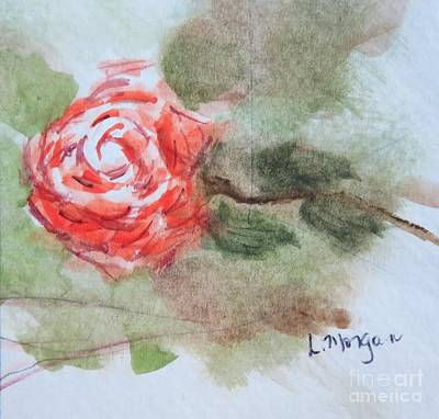 Painting - Little Rose by Laurie Morgan
