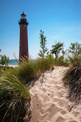 Photograph - Little Sable Light Station - 01 by Larry Carr