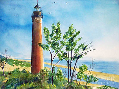 Painting - Little Sable Point Lighthouse by LeAnne Sowa