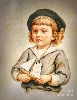 Painting - Little Sailor Boy by Tina LeCour