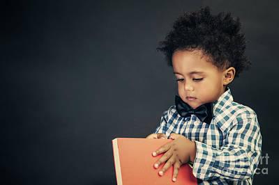 Photograph - Little School Boy by Anna Om