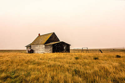 Schoolhouse Photograph - Little Schoolhouse On The Pairie by Todd Klassy