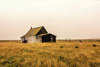 Schoolhouse Photograph - Little Schoolhouse On The Prairie by Todd Klassy