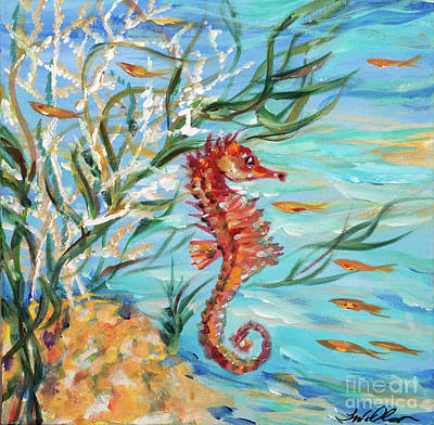 Painting - Little Seahorse by Linda Olsen