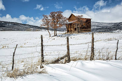 Photograph - Little Shack In Winter by Denise Bush