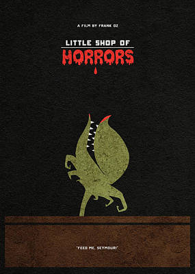 Digital Art - Little Shop Of Horror Minimalist Alternative Poster by Inspirowl Design