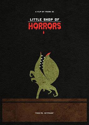 Digital Art - Little Shop Of Horror Minimalist Alternative Poster by Inspirowl Design