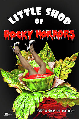 Digital Art - Little Shop Of Rocky Horrors Mashup by John Haldane
