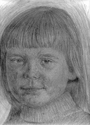 Drawing - Little Sister 1 by Sami Tiainen