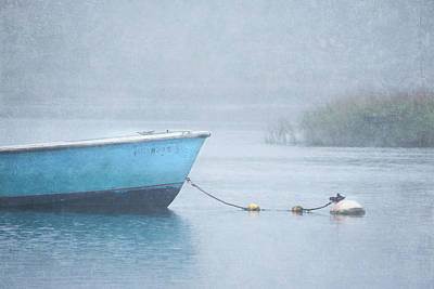 Photograph - Little Skiff In Fog by Betty Wiley