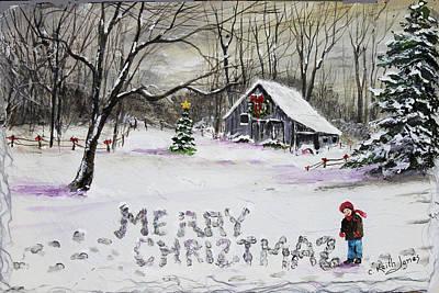Little Snow Writer Original by C Keith Jones
