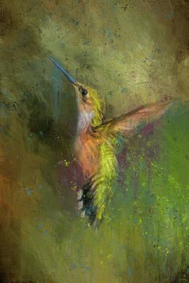 Abstract Hummingbird Photograph - Little Sparkler by Jai Johnson