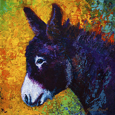 Farm Animal Painting - Little Sparky by Marion Rose