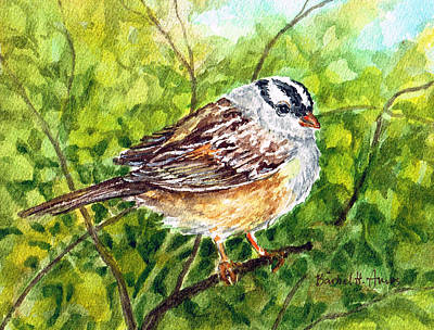 Painting - Little Sparrow by Barbel Amos