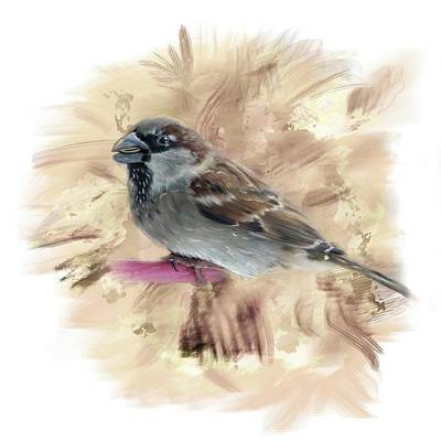 Digital Art - Little Sparrow by Mary Timman