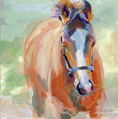 Horse Racing Painting - Little Spider by Kimberly Santini