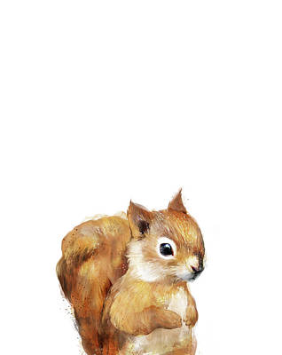 Squirrel Wall Art - Painting - Little Squirrel by Amy Hamilton