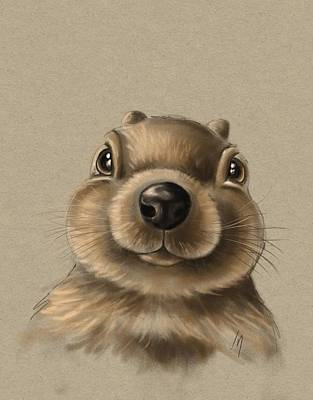 Squirrel Wall Art - Painting - Little Squirrel by Veronica Minozzi