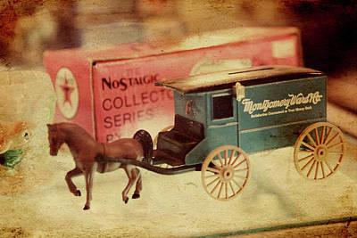 Little Stagecoach Art Print by Toni Hopper