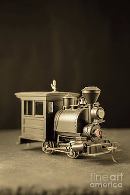 Print featuring the photograph Little Steam Locomotive by Edward Fielding