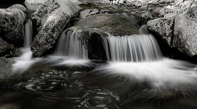 Photograph - Little Stream Falls by Sherman Perry