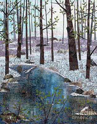 Mixed Media - Little Stream by Janyce Boynton