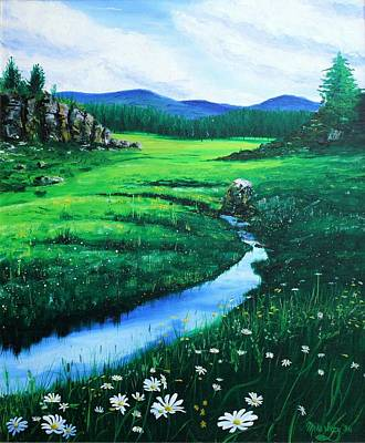 Painting - Little Stream by Mike Ivey