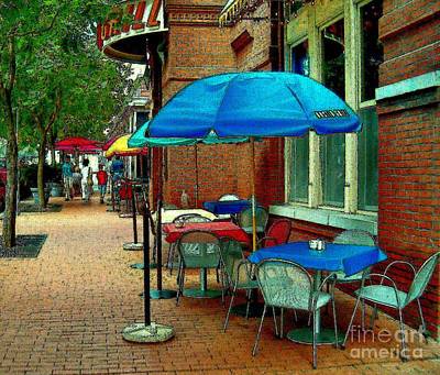 Little Street Cafe Art Print