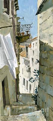Lady Bug - Little Street In Dubrovnik by Sakurov Igor