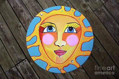 Sun Painting - Little Sunshine - Whimsical Art By Valentina Miletic by Valentina Miletic