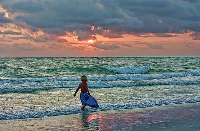 Photograph - Little Surfer Boy by HH Photography of Florida