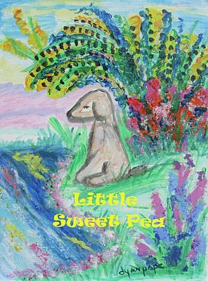 Little Sweet Pea With Title Art Print