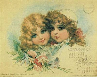 Painting - Little Sweethearts Calendar 3 by Reynold Jay