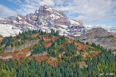 Photograph - Little Tahoma Peak And Stevens Ridge In The Fall by Jeff Goulden