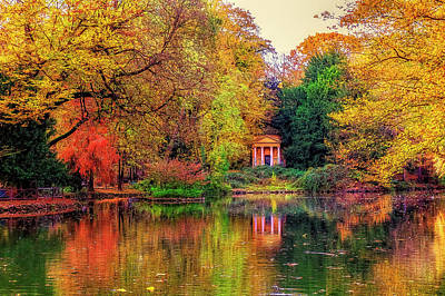 Photograph - Little Temple Among Fall Colors by Roberto Pagani